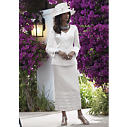 Tiered Skirt Set And Shanting Lampshade Hat