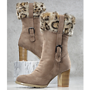 Leopard Cuff Boot By Midnight Velvet