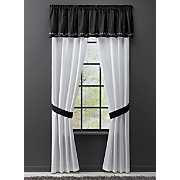 saxony applique window treatments
