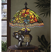 elephant beaded lamp