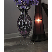 purple captured glass vase