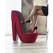 red shoe accent chair