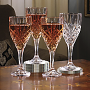 crystal goblet set