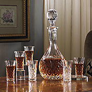 8 piece crystal decanter set