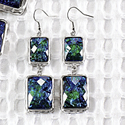 cool colors earrings