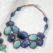 blue cosmos gem necklace