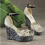 animal platform shoe by midnight velvet