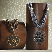 animal print medallion necklace
