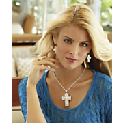 faux mother of pearl cross jewelry