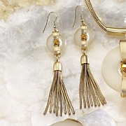 frosted lucite earrings