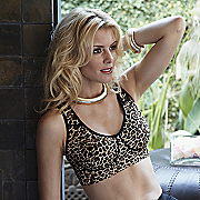 leopard leisure bra