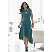 tealicious high low hem dress