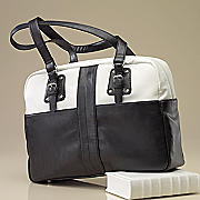 santorini laptop tote by buxton