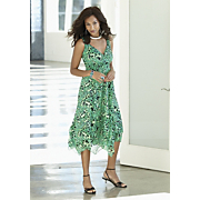 rainforest flutter hem dress
