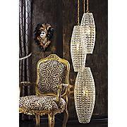 faux crystal gold lamps