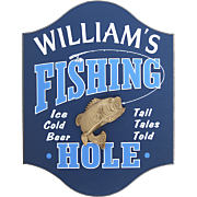 Sign Fishing Hole