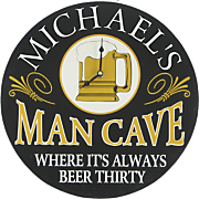Clock Sign Man Cave