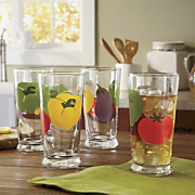 4 piece Mixed Veggie Glass Set