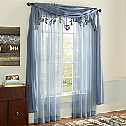 Monte Carlo Voile Panel Valance and Scarf