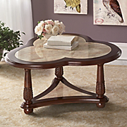 Cloverleaf Faux Marble Table