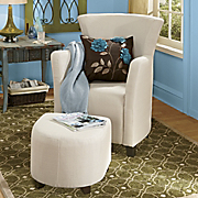 Grace Flare back Chair And Ottoman