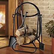 Maxwell Fireplace Tools And Log Holder