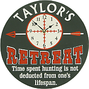 Clock Sign Hunter Retreat