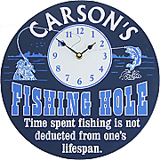 Clock Sign Fishing Hole
