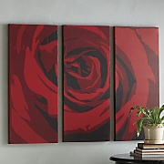 3 piece Red Rose Art Set