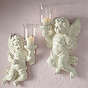 Set Of 2 Cherub Sconces Z