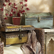 Marrakesh Set Of 2 Metal Chests