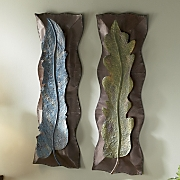Set Of 2 Leaf Wall Art