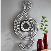 Treble Clef Gem Clock