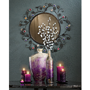 Jewel Blossom Mirror and Cosmos Vases