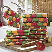 12 piece Peck Of Peppers Towel Set