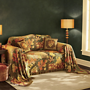 Fall Leaf Collage Furniture Throw
