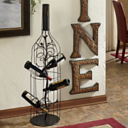 Grand Wire work Wine Bottle And Rack