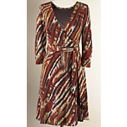Autumn Hues Wrap Dress
