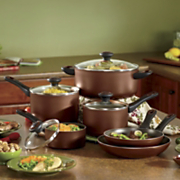 10 piece high performance nonstick cookware by farberware