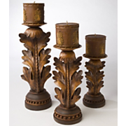 Candles and Holders 6 Piece Set