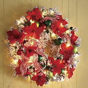 Holiday Dazzle Lighted Wreath