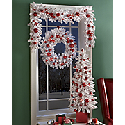 Peppermint Tree Wreath And Garland