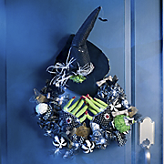 Lighted Sequined Witch Wreath