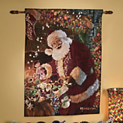 Points Of Light Woven Santa Tapestry