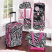 6 piece Zebra Luggage Set
