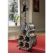 Zebra Cello Wine Rack