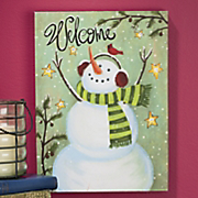 Frosty The Doorman Lighted Canvas