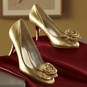 Golden Rosette Pump By Seventh Avenue