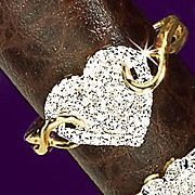 10k Gold Diamond Heart Ring