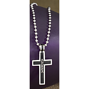Small Stainless Steel Cross Pendant